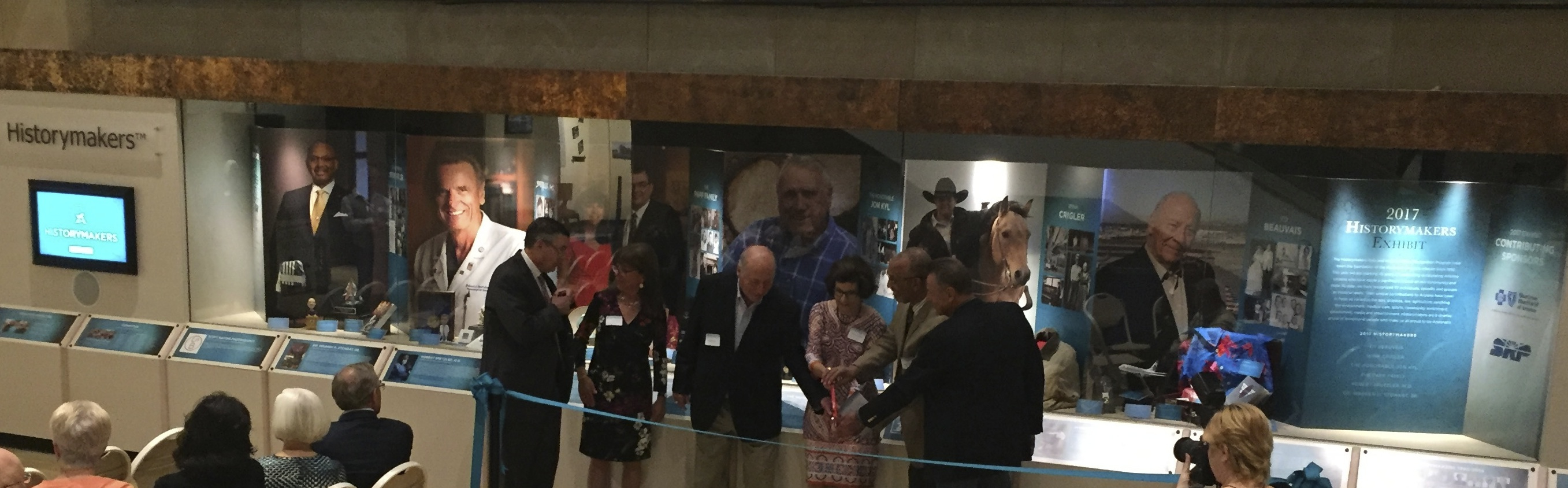 Lobby Historymakers 2017 Exhibit ribbon cutting